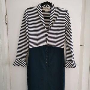 Long Sleeve Stripe Pencil Dress